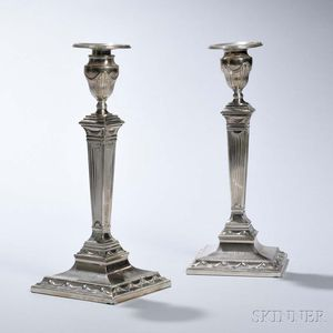 Pair of Tiffany & Co. Sterling Silver Candlesticks