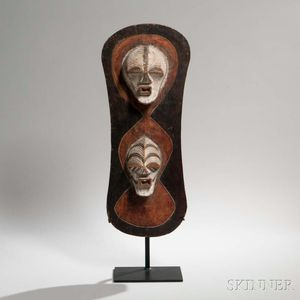 Songye Carved Wood Shield
