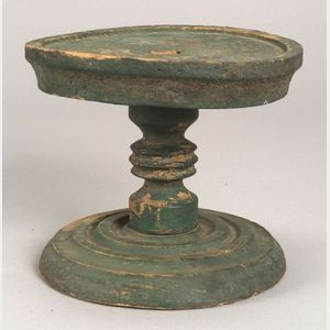 Green Painted Lazy Susan Stand,.