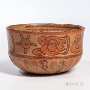 Mayan Polychrome Pottery Bowl