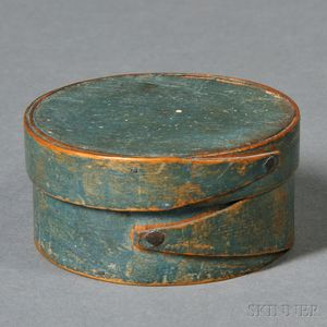 Small Blue-painted Lapped-seam Covered Box