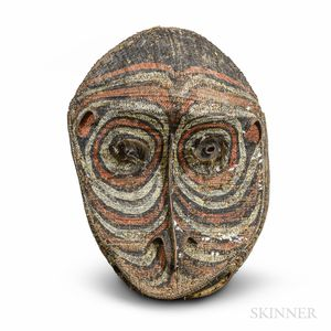 Large Painted and Woven New Guinea Gable Mask