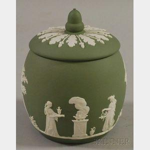 Wedgwood Light Green Solid Jasper Biscuit Jar