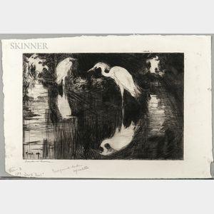 Frank Weston Benson (American, 1862-1951)      Dark Pool