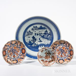 Four Export Ceramic Dishes