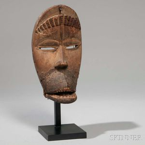Dan Carved Wood Mask with Hinged Jaw