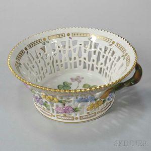 """Two Royal Copenhagen """"Flora Danica"""" Porcelain Round Baskets"""