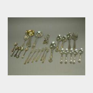 Twenty-seven Assorted Sterling Silver Flatware Pieces