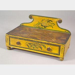 Fancy Painted Pine Dressing Box
