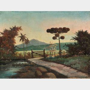 American/South American School, 20th Century      Tropical Landscape