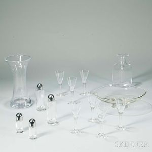 Group of Modern Colorless Glassware