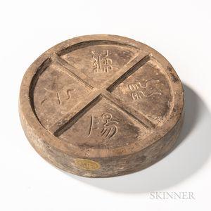 Stoneware Pottery Inkstone