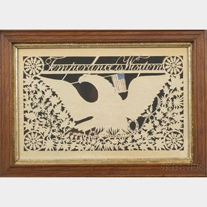Cutwork Eagle and Temperance Picture