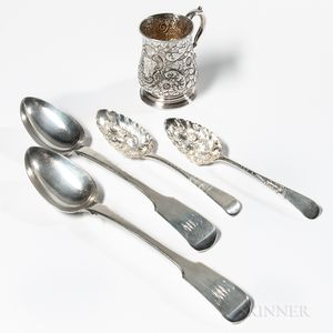 Group of Georgian Sterling Silver Tableware