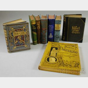 Eight Assorted Decorative Cloth-bound Library Books