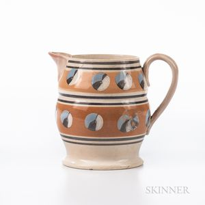 Cat's-eye and Slip-decorated Jug