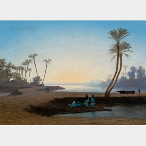 Charles-Théodore Frère (French, 1814-1888)      By the Oasis