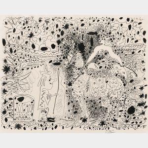 Pablo Picasso (Spanish, 1881-1973)      L'Ecuyère