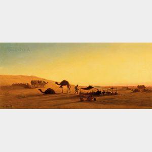 Charles-Théodore Frère (French, 1814-1888)      An Arab Encampment
