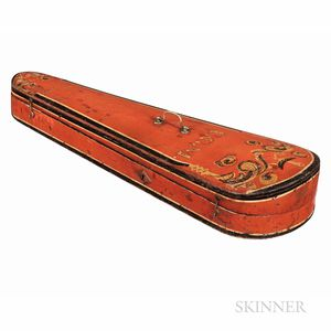American Paint-decorated Violin Case, 19th Century