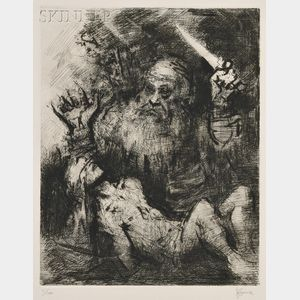 Jack Levine (American, b. 1915)      Sacrifice of Isaac