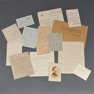 European Composers and Musicians, Late 19th and Early 20th Century, Signed Pieces.