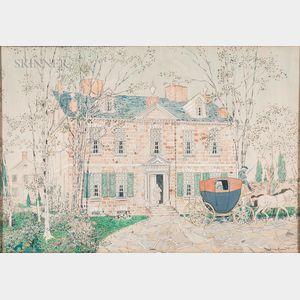 James Moore Preston (American, 1874-1962)      Chew House in Cliveden