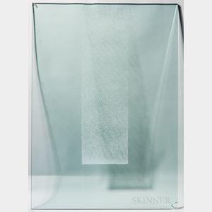 Makoto Ito Square Shadow   Art Glass Wall Sculpture