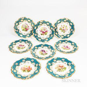 Eight Cauldon Porcelain for Tiffany Floral Plates