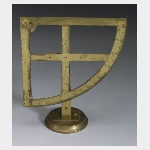 Lacquered-Brass Quadrant
