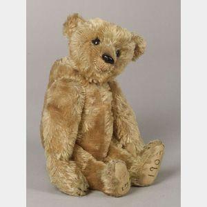Sold for: $17,625 - Steiff Golden Beige Mohair Rod Bear