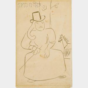 Henri de Toulouse-Lautrec (French, 1864-1901)      L'Amazone  /An Illustration for Chasseur de Chevelures