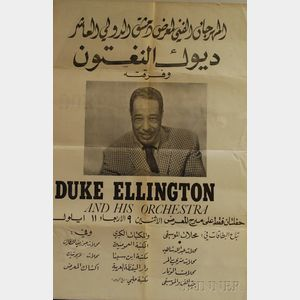 Duke Ellington and His Orchestra Arabic Concert Poster