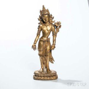 Gilt-bronze Figure of Avalokitesvara Padmapani