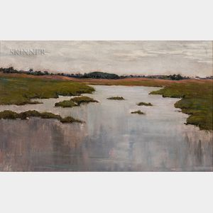 Attributed to Charles Harold Davis (American, 1856-1933)      Marsh Scene