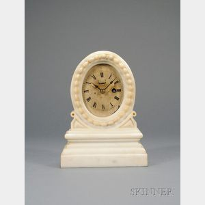Onyx Miniature Mantel Clock by Samuel Emerson Root