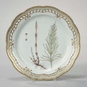 """Four Royal Copenhagen """"Flora Danica"""" Porcelain Platters"""