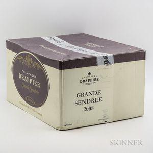 Drappier Grande Sendree Brut 2008, 6 bottles (oc)