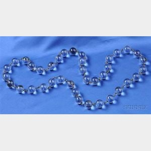 """Rock Crystal Bead """"Pools of Light"""" Necklace"""