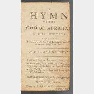 """Olivers, Thomas, """"A Hymn to the God of Abraham"""""""