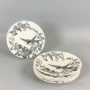 "Set of Six Holmes, Stonier & Hollinshead ""Beatus"" Transfer-decorated Ceramic Bowls"