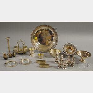 Group of Miscellaneous Small Sterling Silver and Silver-plated Tableware Articles