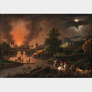 Dutch School, 18th/19th Century      Flight by Night