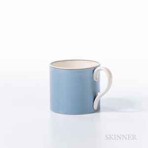 Blue Slip-decorated Pearlware Mug