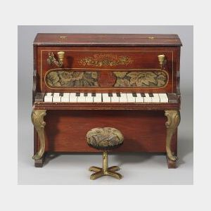Schoenhut Toy Upright Piano and Stool