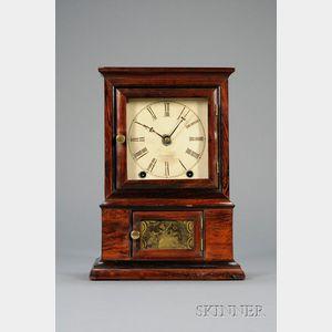 Rosewood Shelf Clock by E. O. Goodwin