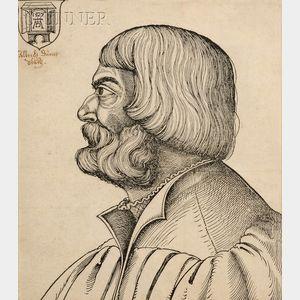 Erhard Schön (German, 1491-1542)      Portrait of Albrecht Dürer in Profile