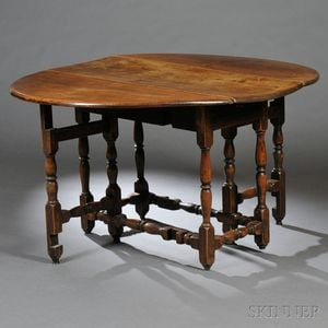 Maple Oval Table with Falling Leaves