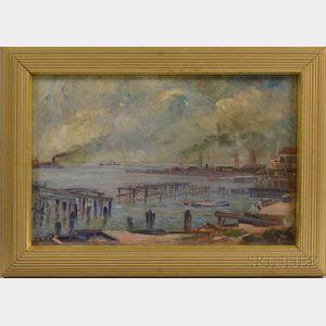 Boris Luban (Russian/American, 1881-1968)      Industrial Port