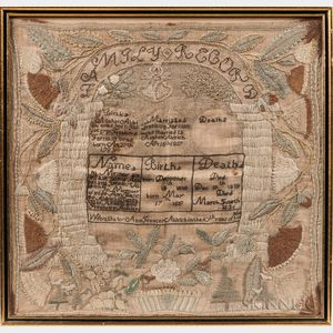 "Needlework Family Record ""Ann Frances Aldrich,"""